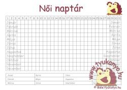 menzesz naptár Női naptár   Tyukanyo.hu menzesz naptár